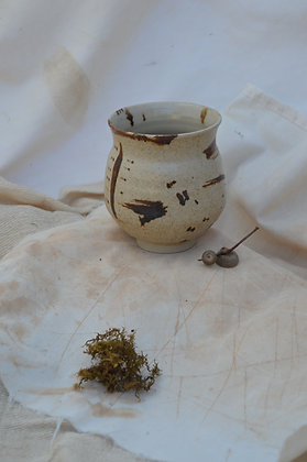 Speckle and Brown Pot