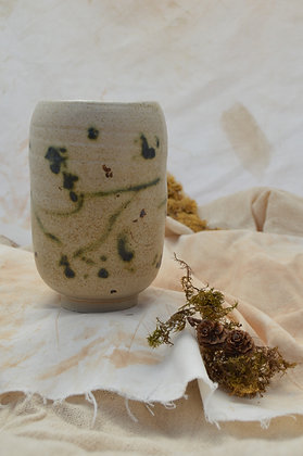 Speckle Vase with Green and Brown