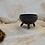 Thumbnail: Small Black Semi-Matte Tripod Bowl