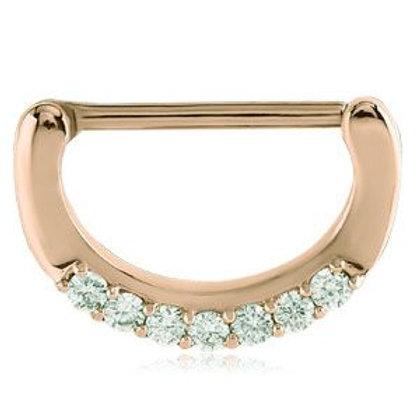 Gold PVD Cast Steel Gems Nipple Clicker