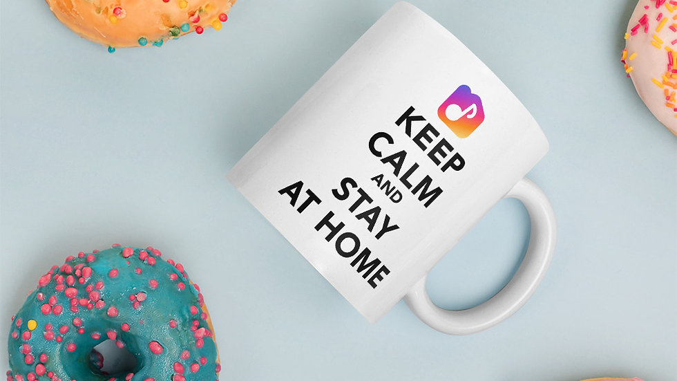 Cup - Keep Calm and Stay At Home
