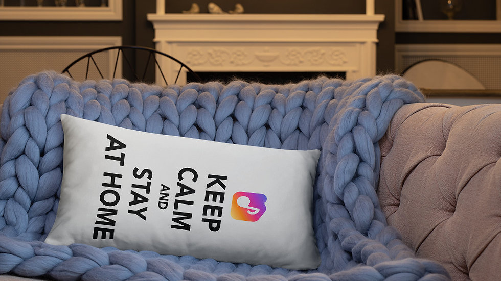 Pillow - Keep Calm and Stay At Home