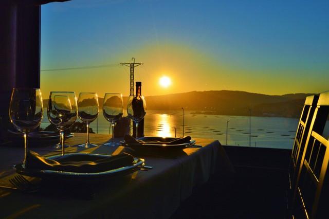 Restaurante con vistas a la ría de Vigo