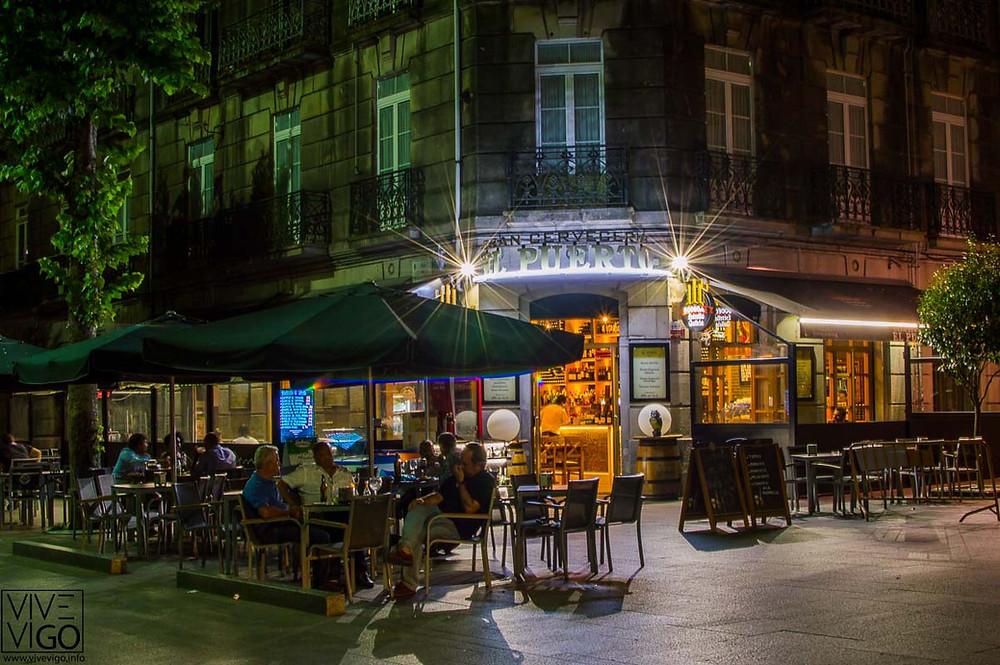 Terraza de Gran Cervecería El Puerto, Vigo