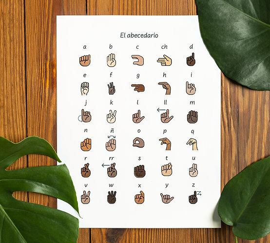 El abecedario- Posters in Print & Cursive