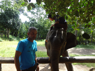 Myanmar team having fun at ZOO ELEPHANT PARK