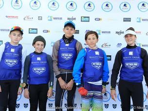 LARNACA optimist team at Nautical club of Thessaloniki to take part on International Team racing.