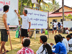 Myanmar Optimist Clinic at NGWE SAUNG BEACH - Myanmar
