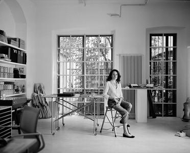 Linda Fregni Nagler in her studio, Milan