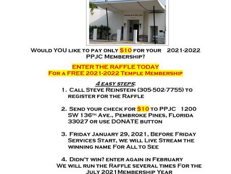 Free Membership Raffle Drawing