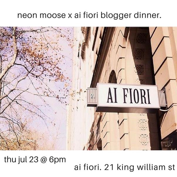 moose puff - ai fiori x neon moose blogger dinner