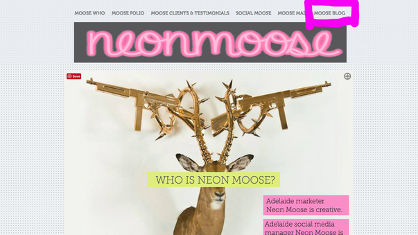 Neon Moose's 7 benefits to blogging