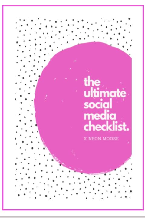 The Ultimate Social MediaChecklist