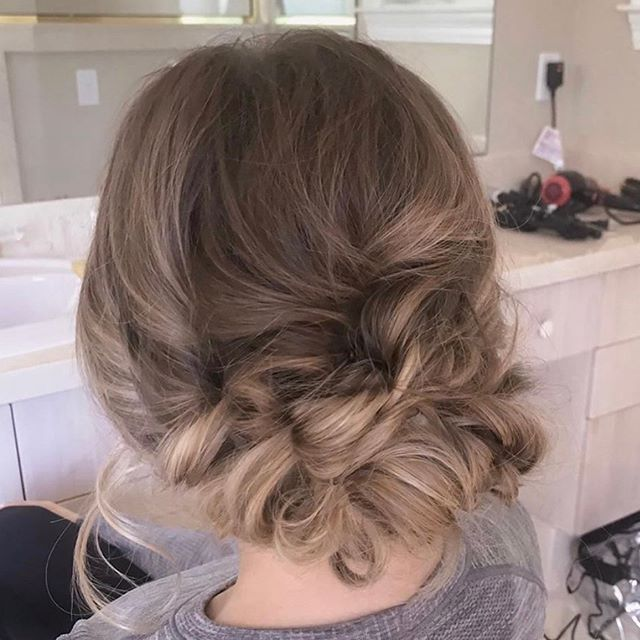 Romantic soft updo for one of our weddin