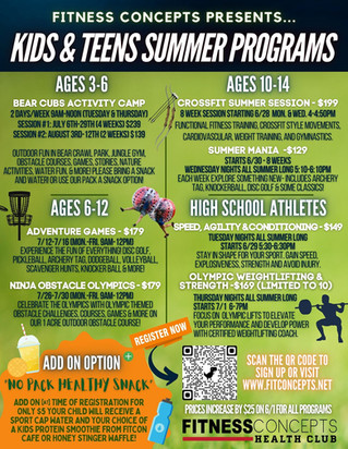KIDS SUMMER PROGRAMS