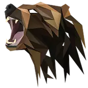 bear-brown-bear-abstract-polygon-geometr