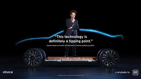 GM、電気自動車の大量導入を加速。ブランドロゴも刷新。