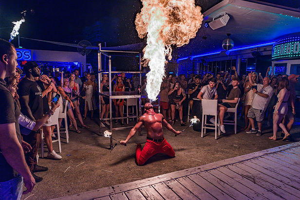 Firebreather at Mambos Terrace, Magaluf by Iconic Fotos
