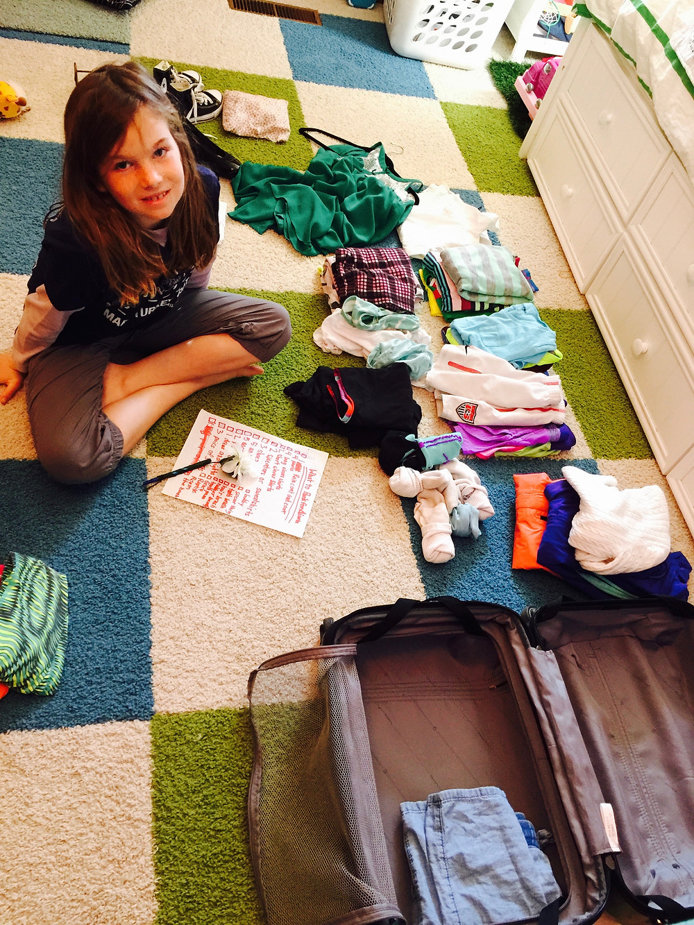 Kids CAN Pack for Themselves! - Child Packing Clothes with List