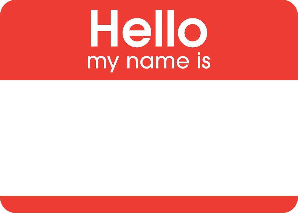 """Spring Clean Your Paper Piles - """"Hello My Name Is"""" tag"""