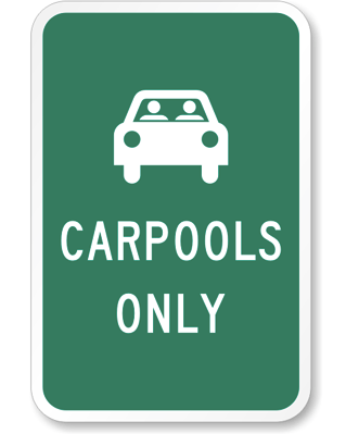 Taste of My Own Medicine: Top 10 Things to Get Ready for School - Carpools Only Sign