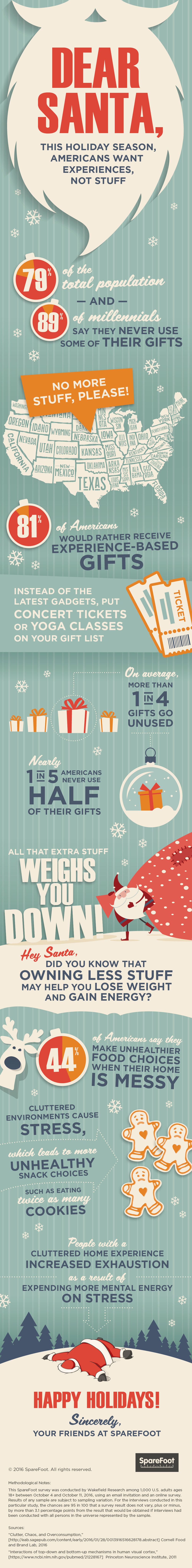 81% of Americans Would Rather Receive Experience-Based Gifts - Guest Post & Infographic from Spare Foot