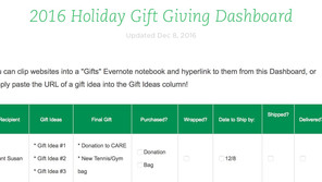 OLWH: Gift-Giving Management + FREE Template!