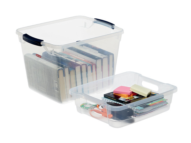 Don't Complicate Your Organizing Systems: 4 Easy Tips - If you can name it, you can tame it. Don't buy organizing products if you don't have a speciifc plan for them. Photo of Rubbermaid storage bin and drawer insert.