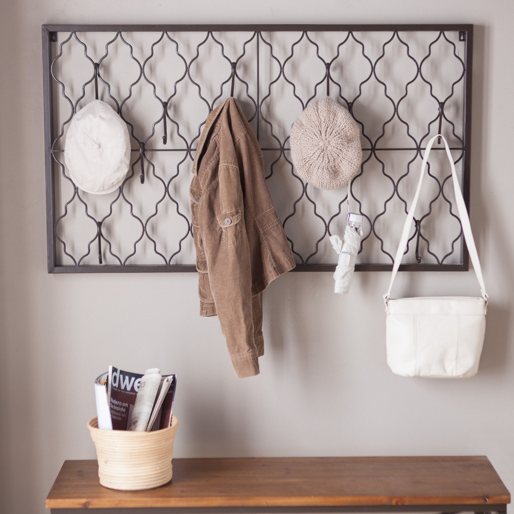 Reclaim Your Dining Room Table - Finley Home Quatrefoil Iron Wall Plaque with Hooks