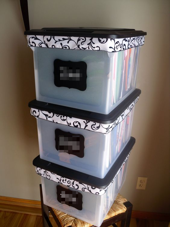 Taste of My Own Medicine: Top 10 Things to Get Ready for School - Plastic stacking file organizers with labels