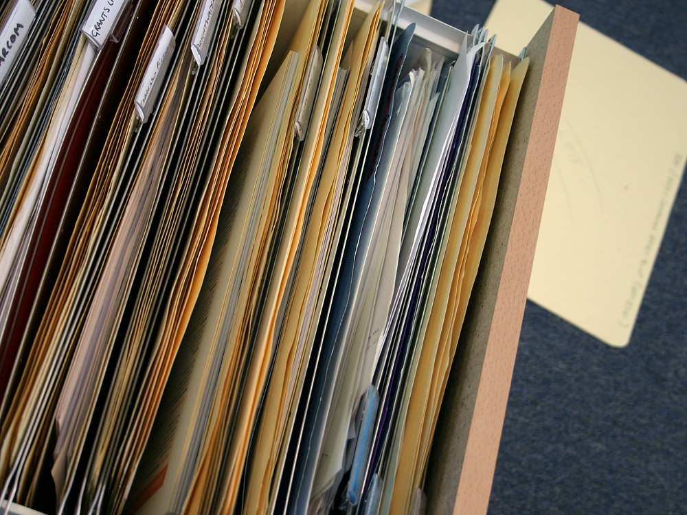 Scan, Shred, or Store? A Checklist to Eliminate Paper Piles - What to Store? Inside of a Filing Cabinet Drawer