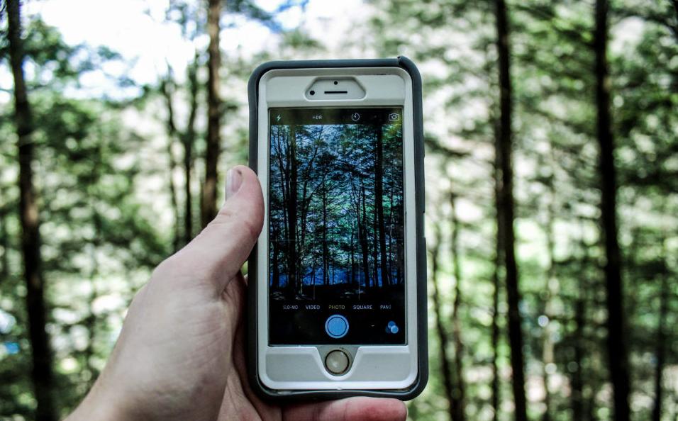 Camera app on smartphone