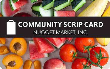 Nugget Community Scrip Card