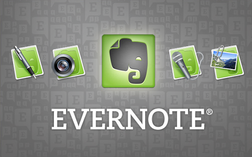 Spring Clean Your Digital Organizing Structure - Access Your Info from Anywhere... like Evernote - Evernote logo on a gray background