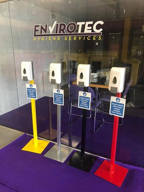 1 Litre Push Soap/ Sanitiser Dispenser and Stand