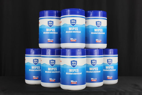 75% Alcohol Small Wipes. Pack of 12