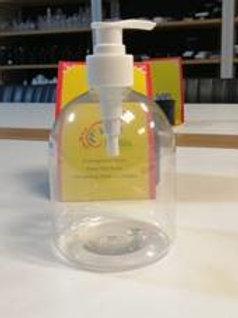 6 x 500ml refill bottles with pump for hand sanitiser or soap