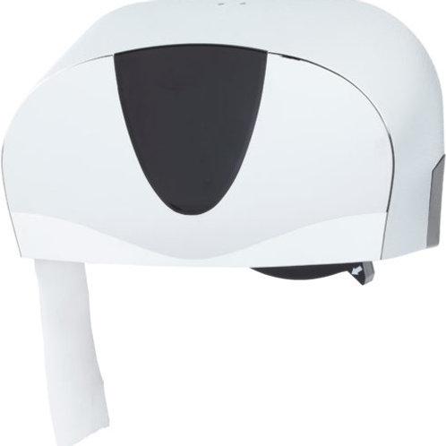 Dual Standard Toilet Roll Dispenser Chrome