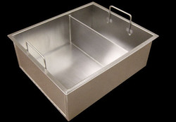 Water tight divided Ice Chest