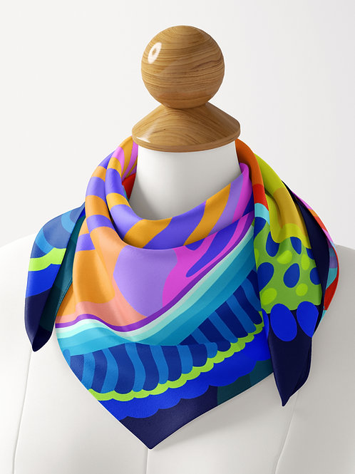 Rainbow  Kaleidoscope Luxe  Silk