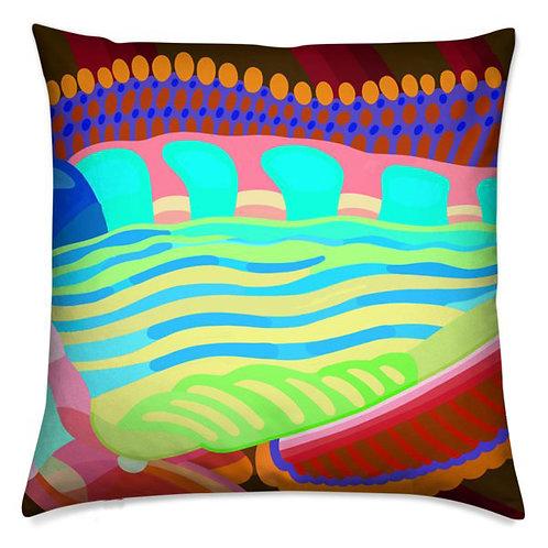 Autumn Flow Kaleidoscope Pillow