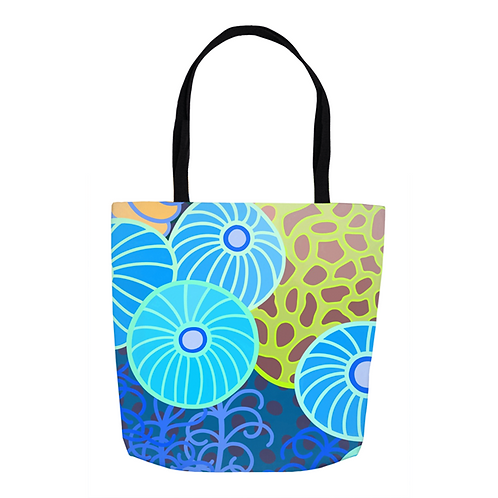 Turquoise  Bubbles  Tote