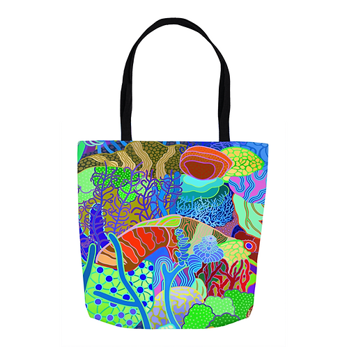 Paradise Plunge Abstract Tote
