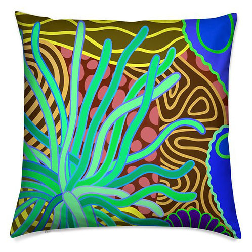Emerald Anemone  Pillow