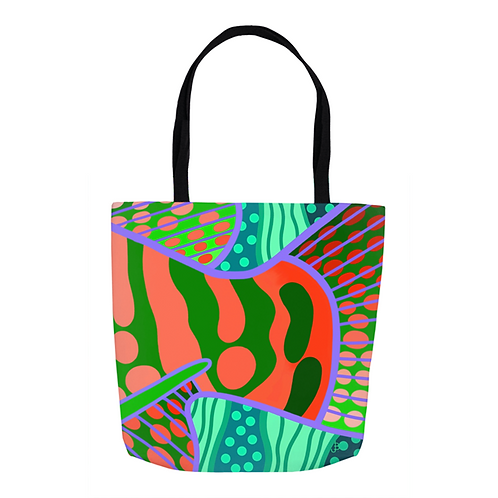 Tangerine & Lime Grouper Tail Tote