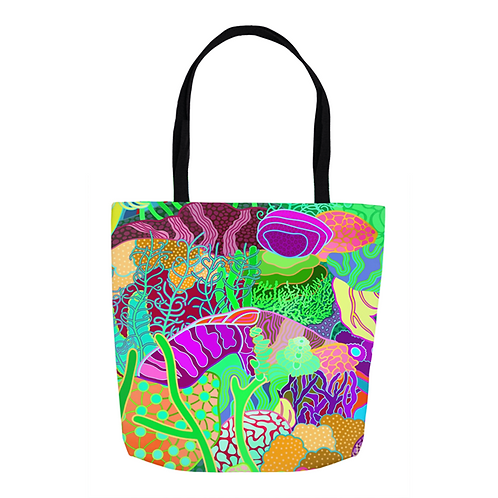 Coral Gardens Abstract Tote
