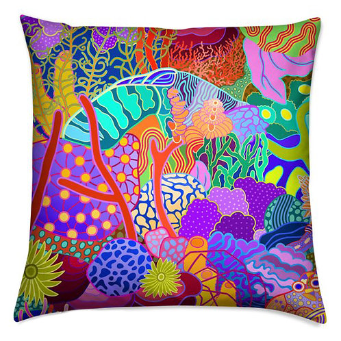 Devils Grotto Abstract Pillow