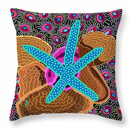 Starlet Cerulean &  Hot Pink Pillow