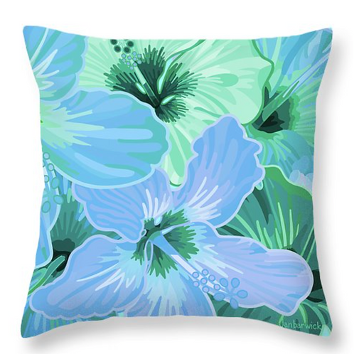 Hibiscus Spring Turquoise & Teals