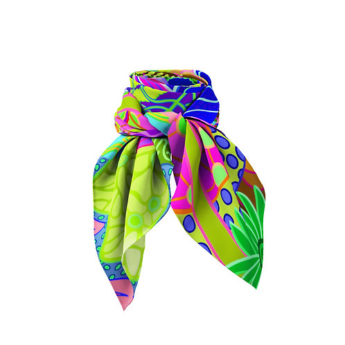 Cascades Abstract Mini Silk